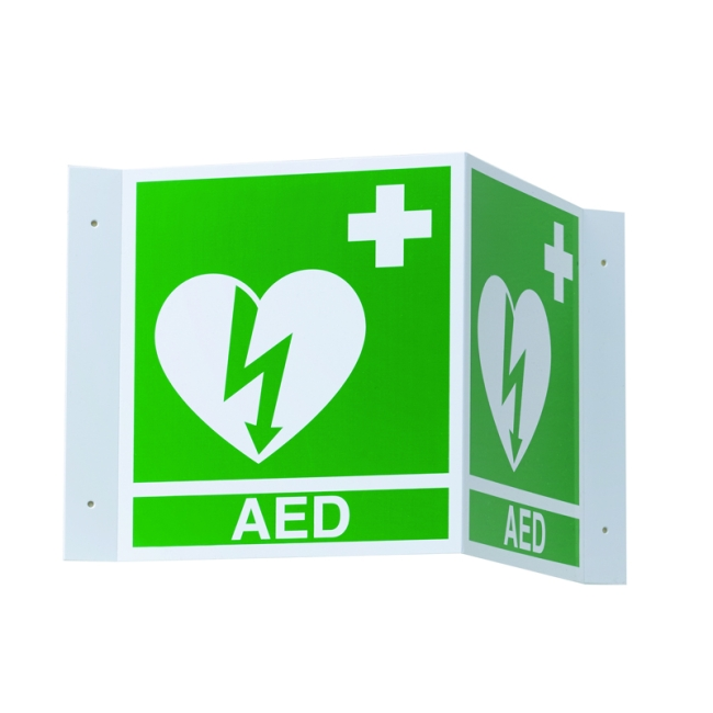 3d Defib Wall Sign For Aed Plus